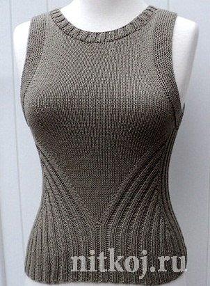 Красивейший топ для женщин спицами (302x411, 132Kb)