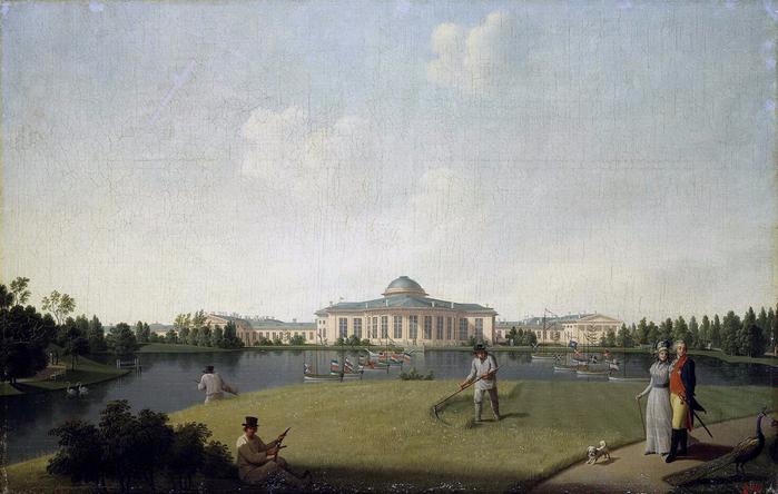 2. 1797 - Вид Таврического дворца со стороны сада (700x444, 367Kb)