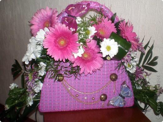 Сумочка с цветами из картона своими руками