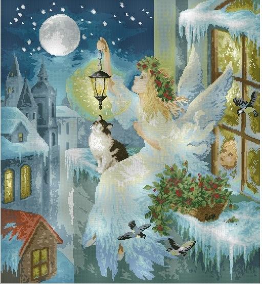 зимняя фея картинка (512x555, 393Kb)