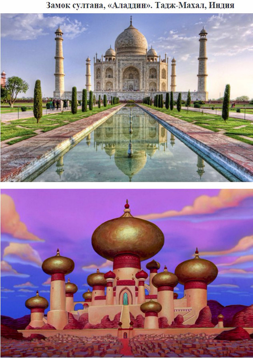 10 реальных мест из мультфильмов Disney (495x700, 406Kb)