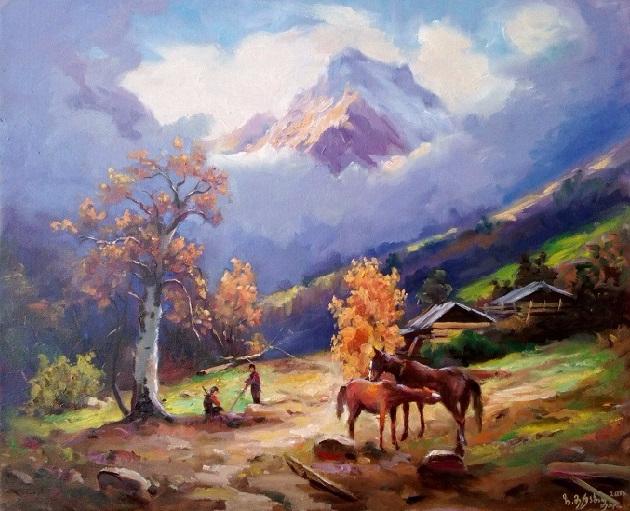 Горах в Грузии осенъ. (630x511, 376Kb)