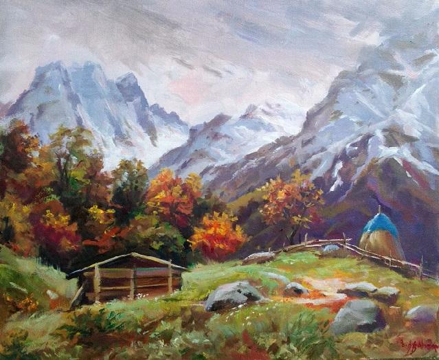 Кавказские горы осенью (639x524, 443Kb)