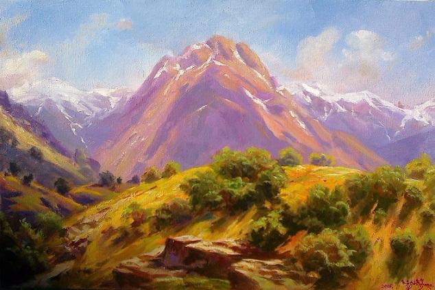 Вид Кавказские горы (634x423, 346Kb)