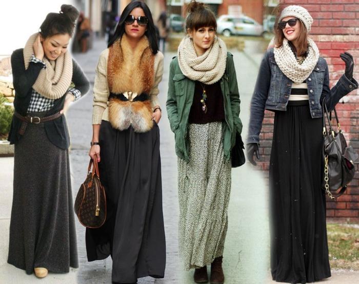 Длинные юбки для зимы! Все ли мы о них знаем?