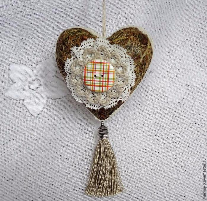 Объемное сердечко из сена или сухой травы. Мастер-класс (2) (700x678, 448Kb)