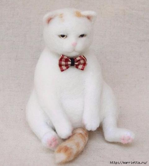 Коты и кошечки в технике сухое валяние из шерсти (1) (480x532, 102Kb)