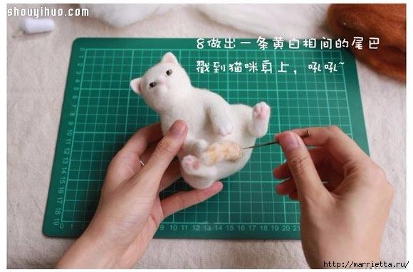 Коты и кошечки в технике сухое валяние из шерсти (9) (580x383, 114Kb)