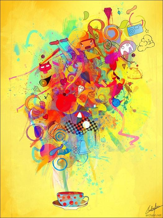 Archan Nair  - арт-директор и иллюстратор, проживающий в Нью-Дели, Индия 29