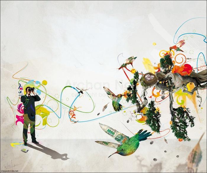 Archan Nair  - арт-директор и иллюстратор, проживающий в Нью-Дели, Индия 34