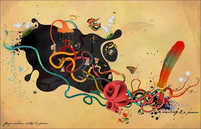 Archan Nair  - арт-директор и иллюстратор, проживающий в Нью-Дели, Индия 50