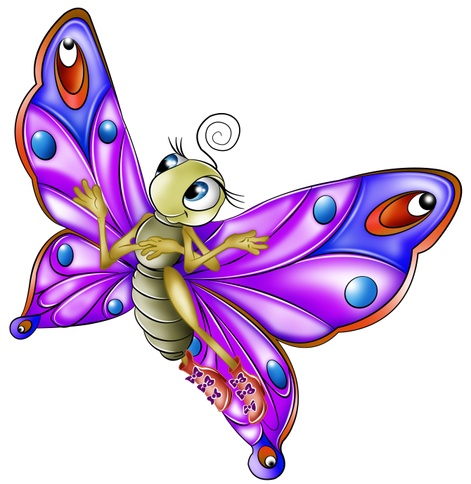 картинки бабочки мультяшные