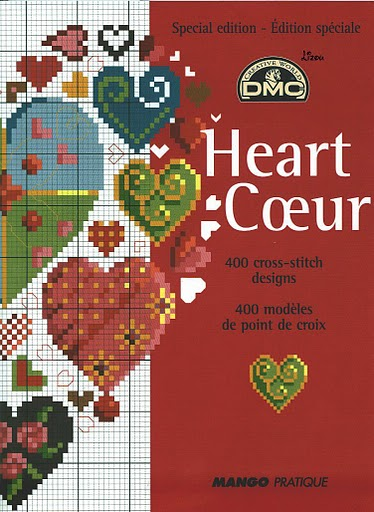 Схемы вышивок сердечек.