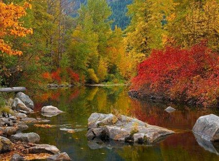 Осень - река, камни (450x331, 56 Kb)
