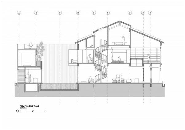 Дом в стиле минимал на Blair Road от студии Ong & Ong 1