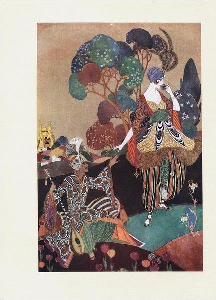 Картинки иллюстрации к Рубаи Омара Хайяма английского иллюстратора Рональда Бэлфура 2