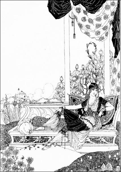 Картинки иллюстрации к Рубаи Омара Хайяма английского иллюстратора Рональда Бэлфура 5