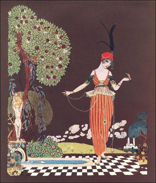 Картинки иллюстрации к Рубаи Омара Хайяма английского иллюстратора Рональда Бэлфура 6