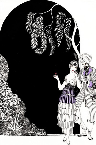 Картинки иллюстрации к Рубаи Омара Хайяма английского иллюстратора Рональда Бэлфура 8