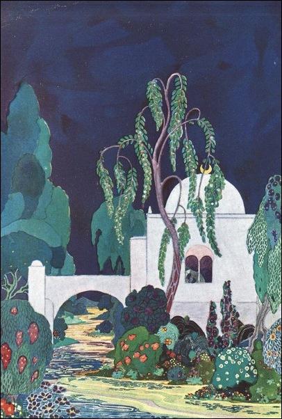 Картинки иллюстрации к Рубаи Омара Хайяма английского иллюстратора Рональда Бэлфура 15