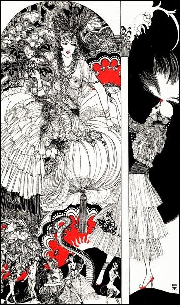 Картинки иллюстрации к Рубаи Омара Хайяма английского иллюстратора Рональда Бэлфура 17