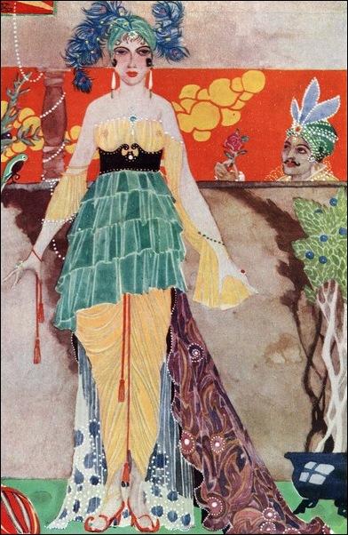 Картинки иллюстрации к Рубаи Омара Хайяма английского иллюстратора Рональда Бэлфура 36