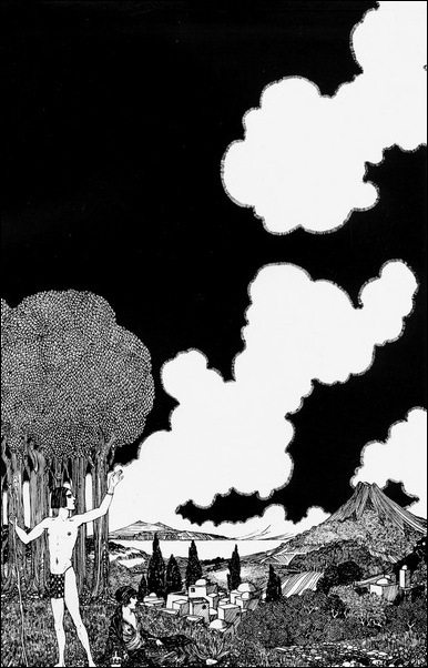 Картинки иллюстрации к Рубаи Омара Хайяма английского иллюстратора Рональда Бэлфура 39