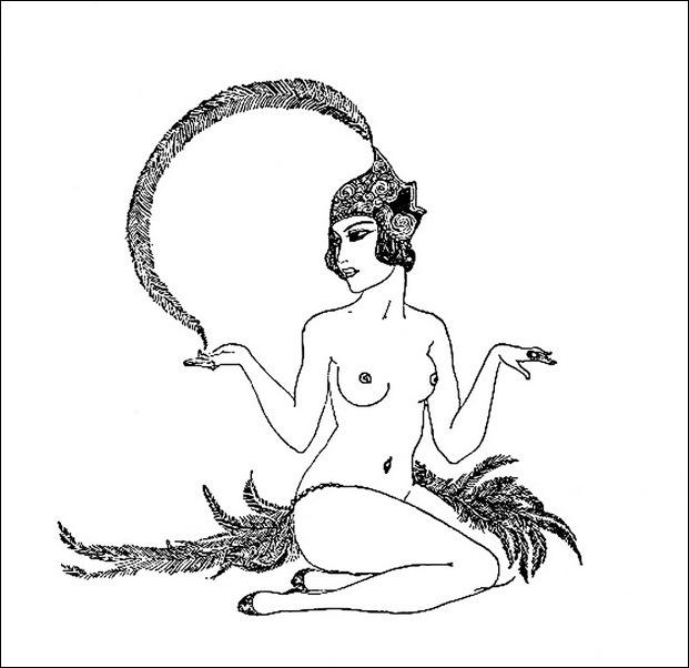 Картинки иллюстрации к Рубаи Омара Хайяма английского иллюстратора Рональда Бэлфура(подтекстные рисунки) 15