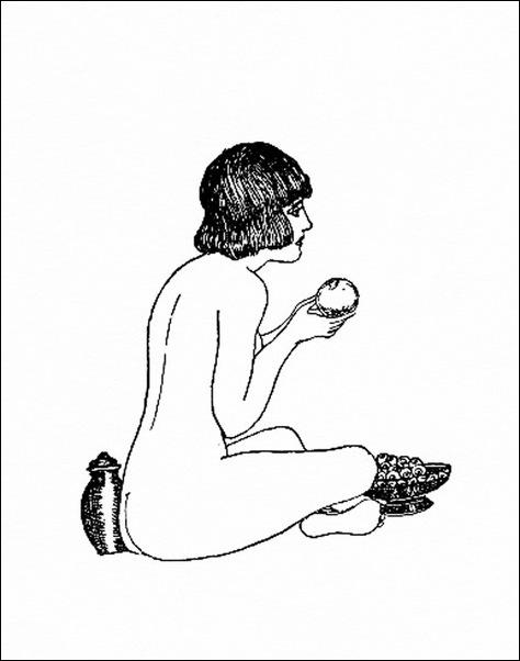 Картинки иллюстрации к Рубаи Омара Хайяма английского иллюстратора Рональда Бэлфура(подтекстные рисунки)  21