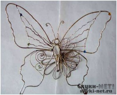 Своими руками бабочки из проволоки