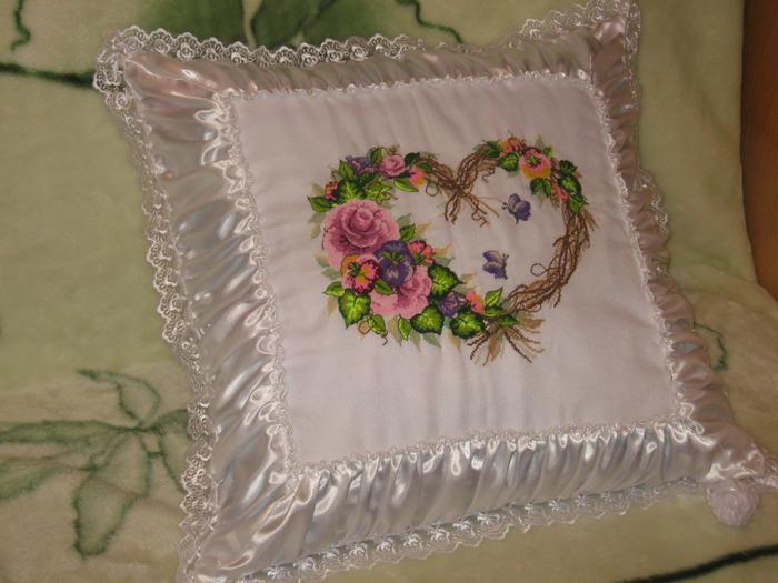 Свадебная подушка.