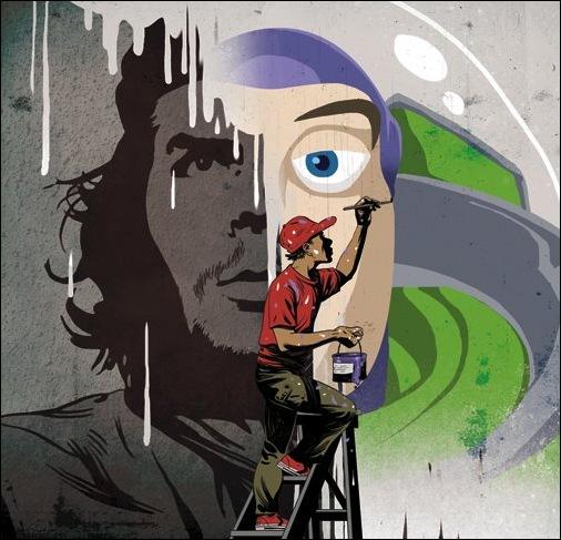 Израильские иллюстраторы Томер и Асаф Ханука (Tomer Hanuka, Asaf Hanuka) mural