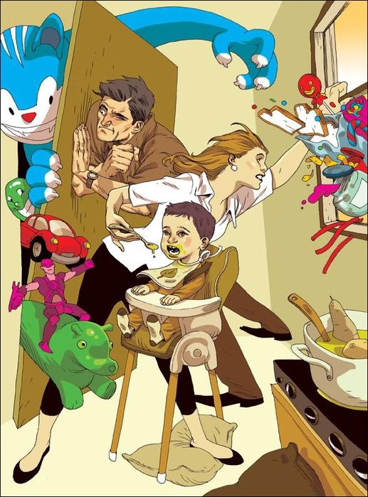 Израильские иллюстраторы Томер и Асаф Ханука (Tomer Hanuka, Asaf Hanuka) freakednet