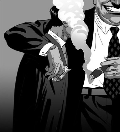 Израильские иллюстраторы Томер и Асаф Ханука (Tomer Hanuka, Asaf Hanuka) gangster3