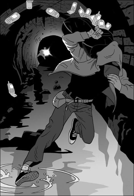 Израильские иллюстраторы Томер и Асаф Ханука (Tomer Hanuka, Asaf Hanuka) gangster5