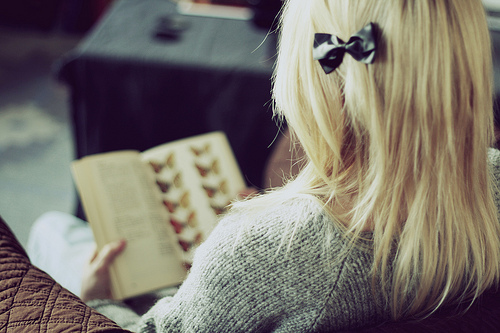 девушка со спины фото блондинка