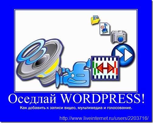 wordpress мультимедиа