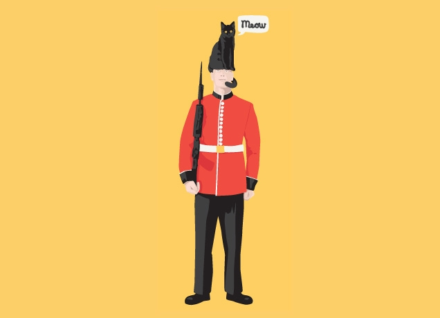 A London Guard Lost His Hat and Had to Think Fast ;)