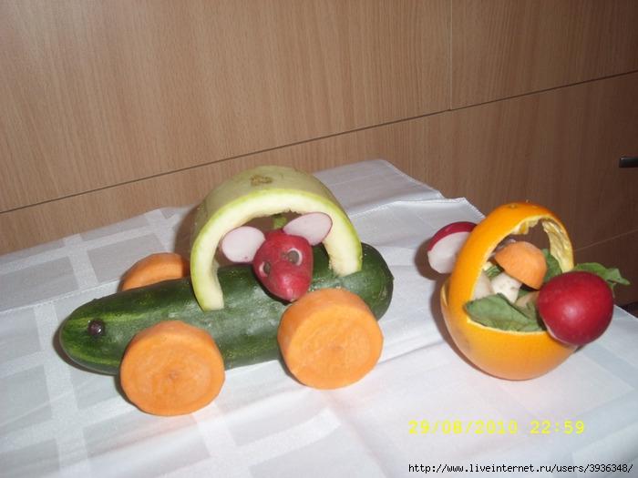 Первые поделки из овощей и...