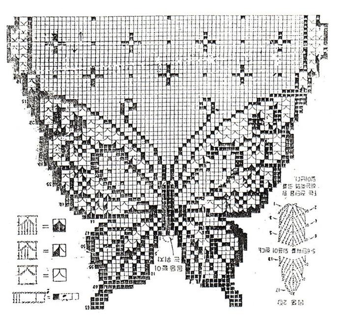 Схема вязания занавески.