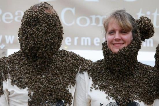 Конкурс лучшей «бороды» из пчел прошел в Канаде 68209