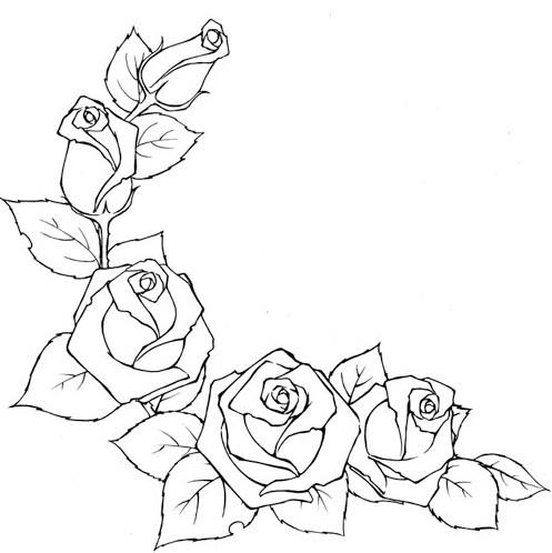 Рисуем розы.
