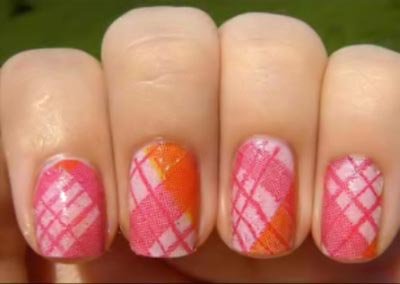decoupage nail from tissue