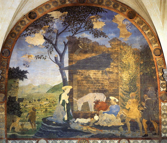 стенная живопись по сырой штукатурке: