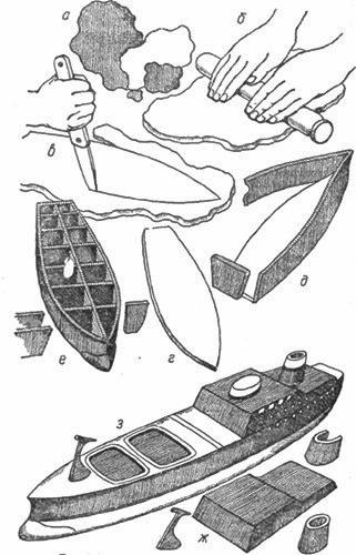 Изготовление корабля из