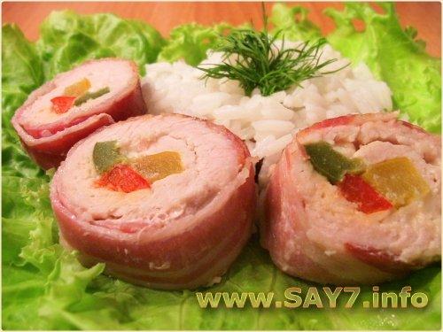рулетики из свинины с перцем