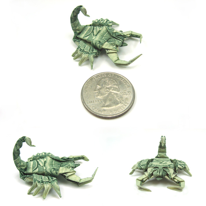 Оригами из долларов 65335775_1287152858_New_pics__Dollar_Scorpion_by_orudorumagi11