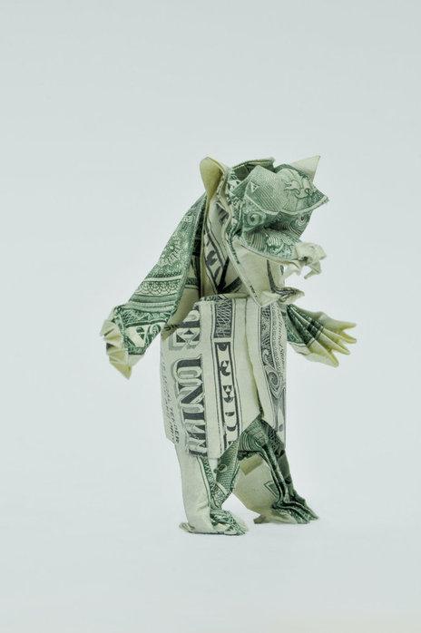 Оригами из долларов 65335791_1287152940_Two_Dollar_Angry_Bear_by_orudorumagi11