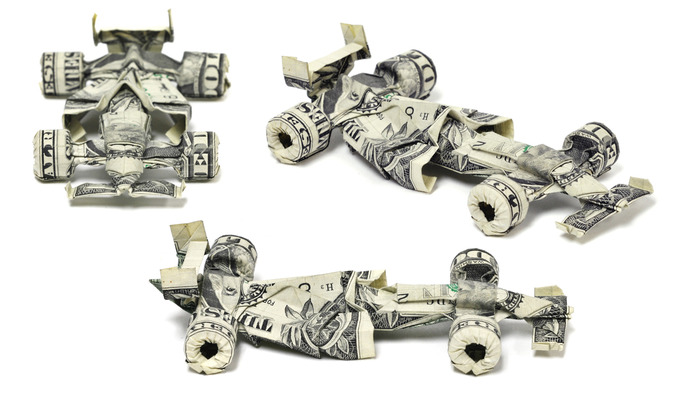 Оригами из долларов 65335795_1287153001_Two_Dollar_Formula_1_Racecar_by_orudorumagi11