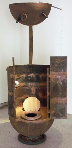 сортир сделанный из мины блок эстонским скульптором мати кармином